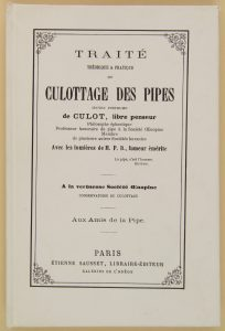 Traité de cullotage de pipes