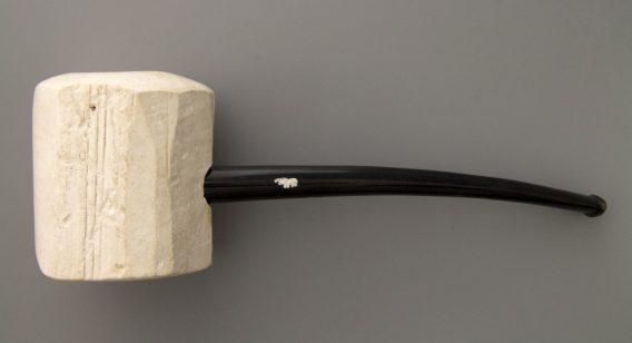 Tanganyika meerschaum pipe - white