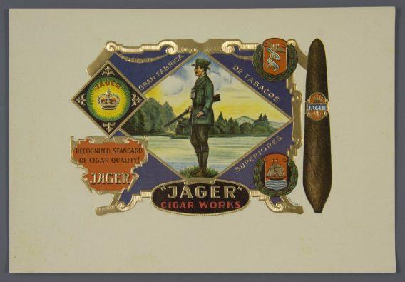 Jager cigar label