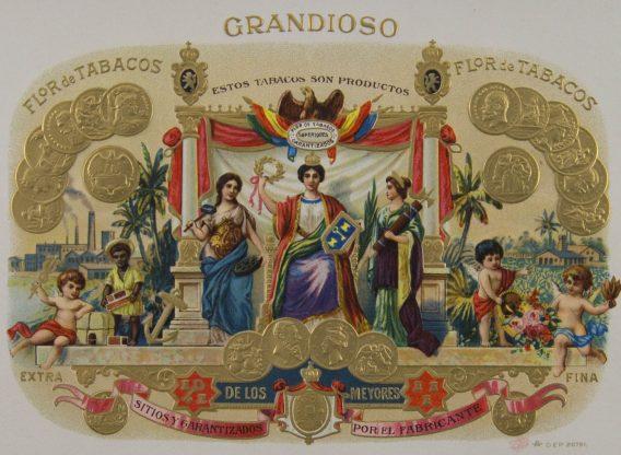 cigar label Grandioso