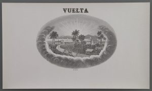 Vuelta cigar label
