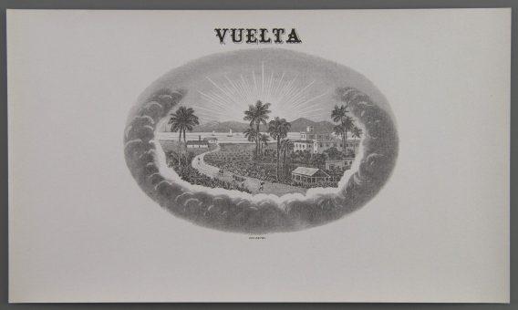 Vuelta cigar label