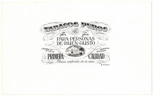 Tabacos Puros cigar label
