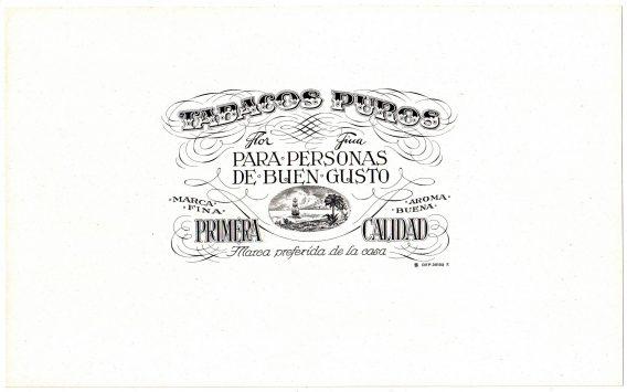Tabacos Puros cigar label