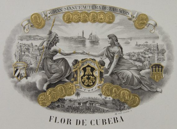 Flor de Cubeba cigar label