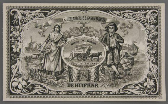 Huifkar cigar label